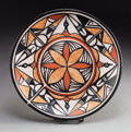 American Indian Art:Pottery, A SANTO DOMINGO POLYCHROME PLATE . Robert Tenorio. c. 2000...