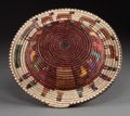 American Indian Art:Baskets, A NAVAJO POLYCHROME COILED BASKET. Sally Black. c. 1990...