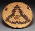 American Indian Art:Baskets, A PIT RIVER TWINED TRAY. c. 1920...