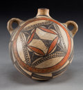American Indian Art:Pottery, AN ACOMA POLYCHROME CANTEEN. c. 1890...