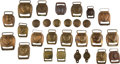 Miscellaneous:Broadside, Lot of Assorted Brass Civil War Harness Buckles, Rosettes and BitBosses.... (Total: 2 )