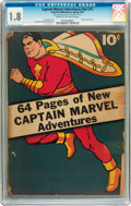 Golden Age (1938-1955):Superhero, Captain Marvel Adventures #nn (#1) (Fawcett, 1941) CGC GD- 1.8 Cream to off-white pages....