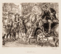 Prints, JOHN FRENCH SLOAN (American, 1871-1951). Up the Line, Miss?, 1930. Etching. Image: 5-1/2 x 6-3/4 inches (14.0 x 17.1 cm)...
