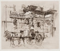 Prints, WILLIAM WALCOT (British, 1874-1943). The Forum of Minerva, circa 1900. Drypoint etching . Image: 9-1/2 x 11-1/2 inches (...