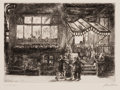 Prints, JOHN FRENCH SLOAN (American, 1871-1951). Lafayette, 1928. Line etching. Image: 5 x 6-3/4 inches (12.7 x 17.1 cm). Sheet:...