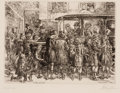 Fine Art - Work on Paper:Print, JOHN FRENCH SLOAN (American, 1871-1951). The Movey Troupe. Line etching. Image: 5-1/2 x 7 inches (14.0 x 17.8 cm). Sheet...