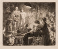 Prints, JOHN FRENCH SLOAN (American, 1871-1951). Anshutz on Anatomy, 1912. Etching. Image: 7-1/4 x 8-3/4 inches (18.4 x 22.2 cm)...