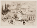 Fine Art - Work on Paper:Print, WILLIAM WALCOT (British, 1874-1943). Pair: House of Quintili; Egyptian Temple. Etchings. Main image: 7 x 9-1/2 inches (1... (Total: 2 Items)