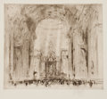 Fine Art - Work on Paper:Print, WILLIAM WALCOT (British, 1874-1943). Group of three: Saint Peter's Rome; The Clyde; Fourth Bridge. Etchings. Main image:... (Total: 3 Items)