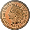 Proof Indian Cents, 1862 1C PR65 Cameo PCGS....