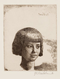 GERALD L. BROCKHURST (American, 1890-1978) Group of three: Clyrie; Anais; Corinne, 1925 Line etching