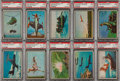 "Non-Sport Cards:Lots, 1954 Bowman ""Power for Peace"" PSA Graded Collection (23). ..."