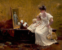 FRANCIS COATES JONES (American, 1857-1932) Gone But Not Forgotten Oil on canvas 22 x 27 inches (5