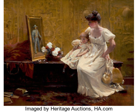 FRANCIS COATES JONES (American, 1857-1932)Gone But Not ForgottenOil on canvas22 x 27 inches (55.9 x 68.6 cm)Sign...