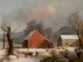 Fine Art - Painting, American:Antique  (Pre 1900), GEORGE HENRY DURRIE (American, 1820-1863) and Completed by GEORGEBOICE DURRIE (1842-1907) and/or JOHN DURRIE, JR. (1818-1...