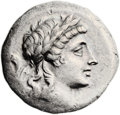 Ancients:Greek, Ancients: AEOLIS. Myrina. Ca. 155-145 BC. AR tetradrachm (15.20gm). ...