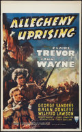 "Movie Posters:Action, Allegheny Uprising (RKO, 1939). Canadian One Sheet (26"" X 42"").Action.. ..."