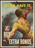 "Movie Posters:War, World War II ""Let 'Em Have It."" (U.S. Government Printing Office,1943). Propaganda Poster (10"" X 14""). War.. ..."