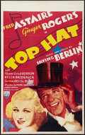 "Movie Posters:Musical, Top Hat (RKO, 1935). Canadian One Sheet (26"" X 42"") Flat Folded.Musical.. ..."