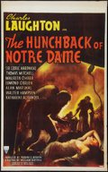 "Movie Posters:Horror, The Hunchback of Notre Dame (RKO, 1939). Canadian One Sheet (26"" X42""). Horror.. ..."
