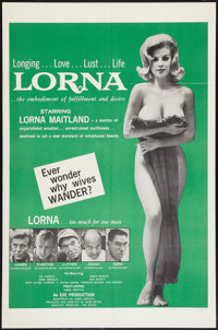 "Lorna (Eve Productions, 1964). One Sheet (27"" X 41""). Sexploitation"