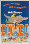 "Movie Posters:Animation, Dumbo (Buena Vista, R-1972). One Sheet (27"" X 41""). Animation.. ..."