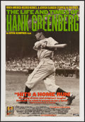 "Movie Posters:Sports, The Life and Times of Hank Greenberg (Cowboy Booking, 1998). One Sheet (27"" X 39""). Sports.. ..."