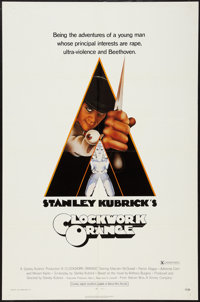 "A Clockwork Orange (Warner Brothers, 1971). One Sheet (27"" X 41""). X-Rated Style. Science Fiction"