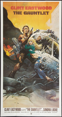 "The Gauntlet (Warner Brothers, 1977). International Three Sheet (41"" X 81"") Flat Folded. Action"