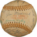 Autographs:Baseballs, 1968 Atlanta Braves Old Timers' Day Multi-Signed Baseball....