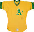 Baseball Collectibles:Uniforms, Circa 1977 Bill North Game Worn Oakland Athletics Jersey....
