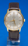Timepieces:Wristwatch, Omega 18k Gold Automatic Seamaster Wristwatch. ...