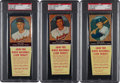 Baseball Cards:Lots, 1958 Hires Root Beer PSA Mint 9 Trio (3) - All Highest GradeAvailable. ...
