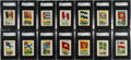 "Non-Sport Cards:Sets, 1910 T60 Red Cross ""Flags of All Nations"" Partial Set (50/100) - AnExtremely Rare Brand. ..."