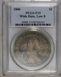 Early Dollars: , 1800 $1 Wide Date, Low 8 Fine 15 PCGS. B-10, BB-190, R.3. A scarcepiece with dove-gray and g...