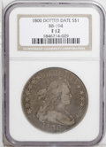 Early Dollars: , 1800 $1 Dotted Date Fine 12 NGC. B-14, BB-194, R.3. A moderatelyworn but pleasing example of...
