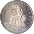 1876 T$1 PR64 ANACS. Type One Obverse, Type Two Reverse. Mauve and forest-green patina embraces this attractive Centenni...