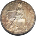 Patterns: , 1859 P50C Half Dollar, Judd-235, Pollock-284, R.5, PR64 NGC.Anthony Paquet's design for the Seated Liberty series, here in...