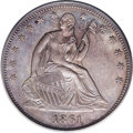 Patterns: , 1861 P50C Half Dollar, Judd-279, Pollock-330, Low R.7, PR64 PCGS.From regular issue dies except that GOD OUR TRUST is pres...