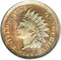 1863 1C One Cent, Judd-299, Pollock-359, Snow-PT1, R.3, PR65 Red and Brown PCGS. A transitional pattern for the 1864 No...