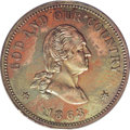 Patterns: , 1863 2C Two Cents, Judd-305, Pollock-370, R.4, PR61 Red and Brown ANACS. The popular Washington obverse with GOD AND OUR CO...