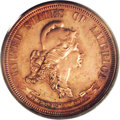 Patterns: , 1869 25C Standard Silver Quarter Dollar, Judd-724, Pollock-805, R.7, PR63 Red PCGS. The obverse features a bust of Liberty ...