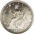 Patterns: , 1873 T$1 Trade Dollar, Judd-1310, Pollock-1453, R.4, PR63 NGC.William Barber's Indian Princess obverse for the Trade dolla...