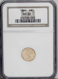 Gold Dollars: , 1864 G$1 MS62 NGC. This Civil War issue has a tiny mintage of 5,950pieces, and survivors in 62 and up are condition rariti...