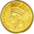 Gold Dollars: , 1867 G$1 MS64 PCGS. Unbacked Federal paper money drove bullioncoins from circulation in 1867, which led to a low productio...
