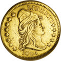 Early Quarter Eagles: , 1804 $2 1/2 14 Star Reverse--Improperly Cleaned--NCS. AU Details.Breen-6119, BD-2, R.4. The NCS holder states the variety ...