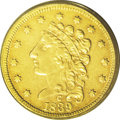 "Classic Quarter Eagles: , 1839-C $2 1/2 XF45 PCGS. McCloskey-B, Breen-6149, R.4. The Guide Book notes of this issue that ""So-called 9 Over 8 vari..."