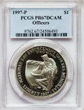 Modern Issues: , 1997-P $1 Law Enforcement Silver Dollar PR67 Deep Cameo PCGS. PCGSPopulation (16/1374). NGC Census: (8/1315). Numismedia ...