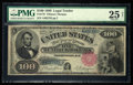Large Size:Legal Tender Notes, Fr. 179 $100 1880 Legal Tender PMG Very Fine 25 Net.. ...