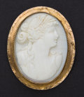 Estate Jewelry:Cameos, Antique 14k Gold Coral Cameo. ...